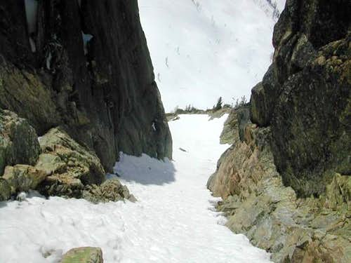 Looking down the SW Col.