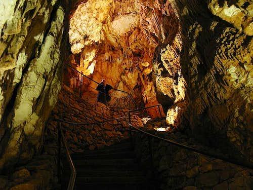 Inside Baredine cave