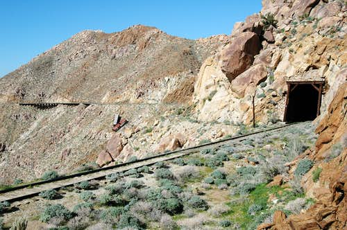 Railroad track through Anza Borrego