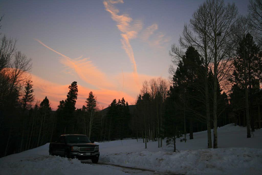 Angel Fire Sunset