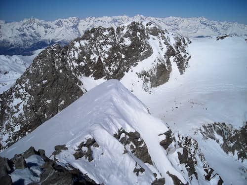 Lagginhorn Summit Ridge (Winter)