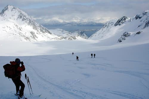 Skiing at sea level Norway