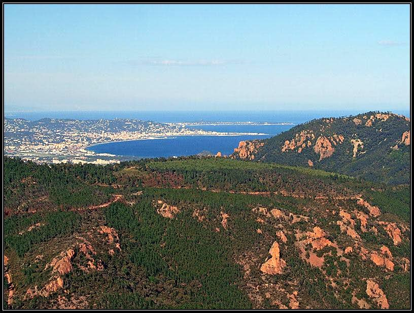 Cannes from Mont Vinaigre