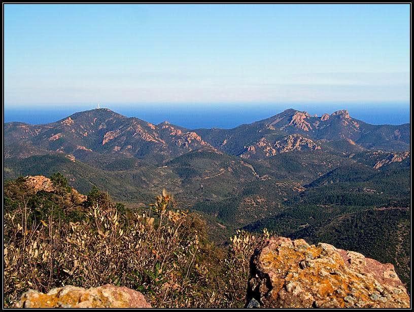 Massif de l'Esterél from Mont Vinaigre