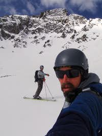 Tyler and I below the North Face of Pacific