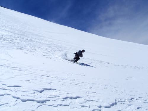 Tyler skiing 4th of July Bowl