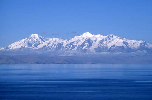 Cordillera Real and lake Titicaca