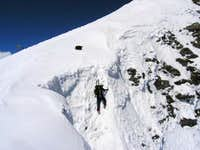 Northface couloir: Climbing...
