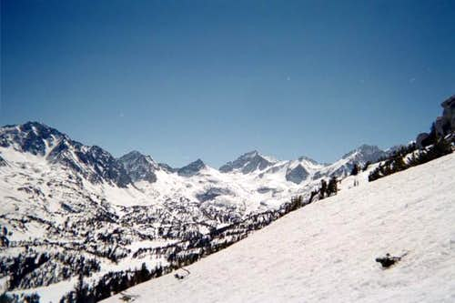 East face of Mt Starr in March