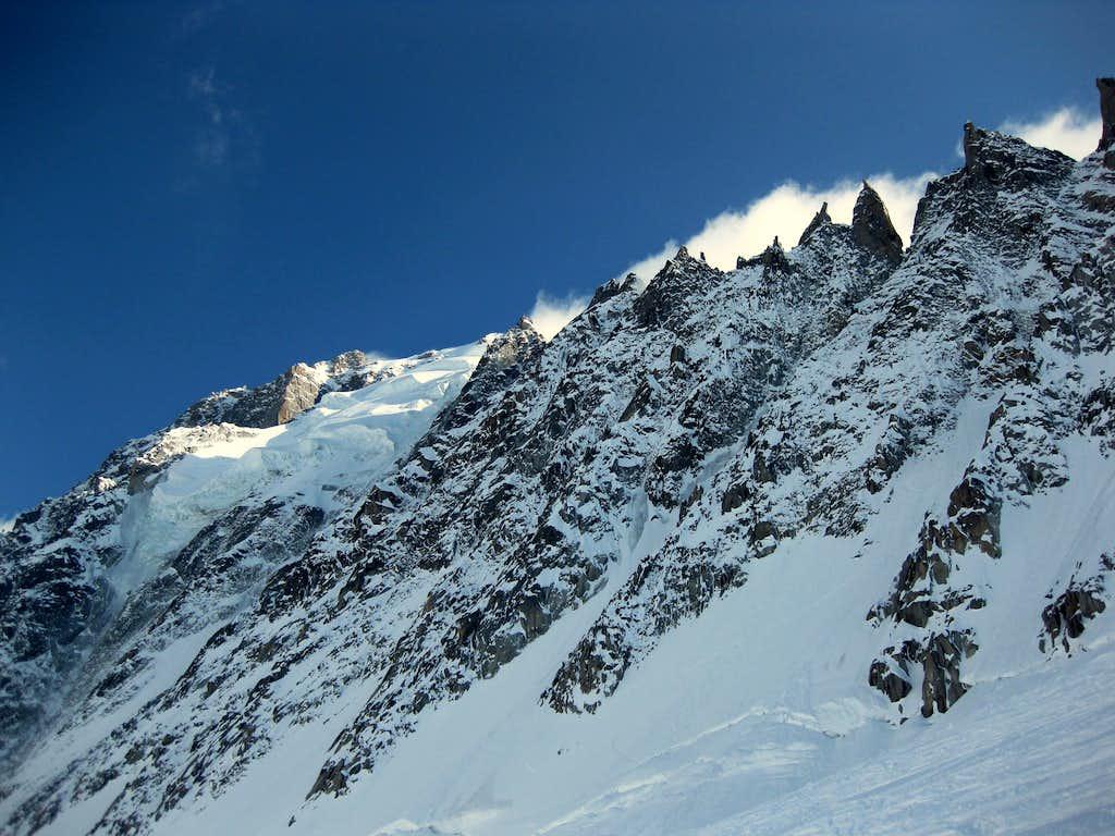 Grand Montets ridge of Aiguille Verte