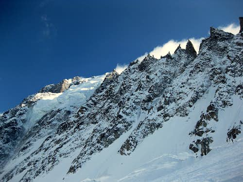 Grand Montets ridge of Aiguille Verte