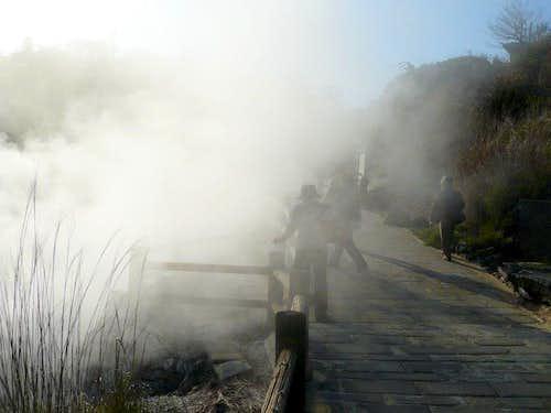 Fumaroles of Unzen Jigoku