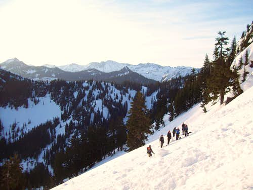 Climbers on Cowboy Mountain
