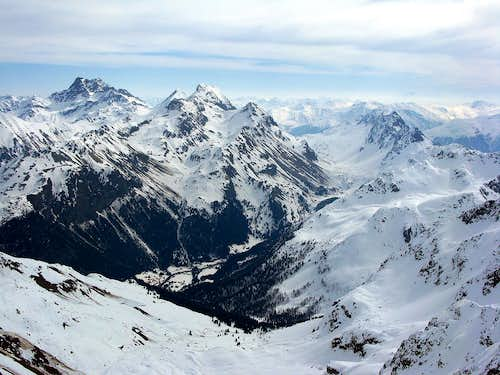 view from Piz Salteras