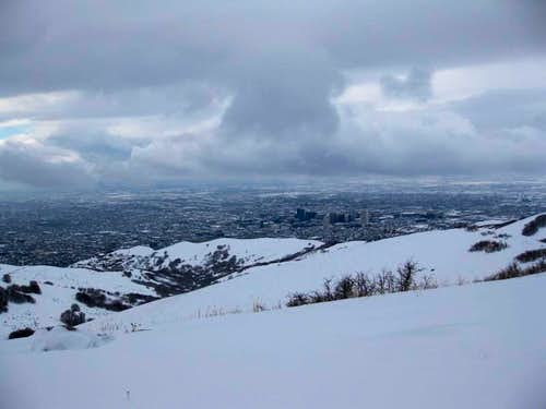 Salt Lake City from the trail