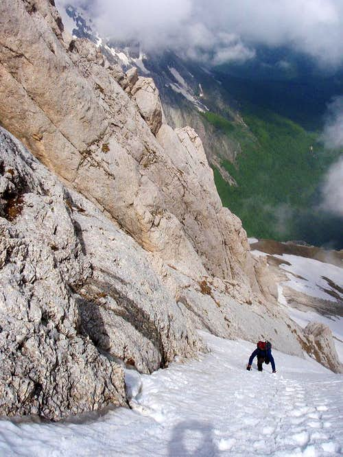 Abbate-Acitelli couloir (Normal route from North)
