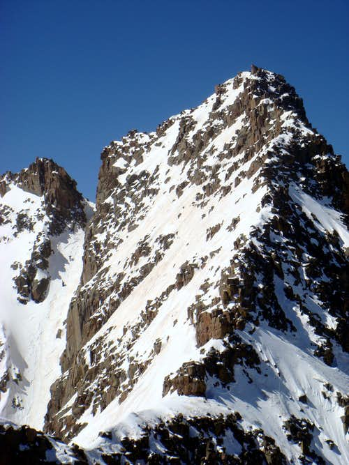 Climbers in E Couloir
