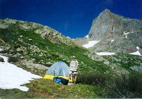 Our sloping campsite at...