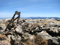 summit - Pikes Peak in the far distance