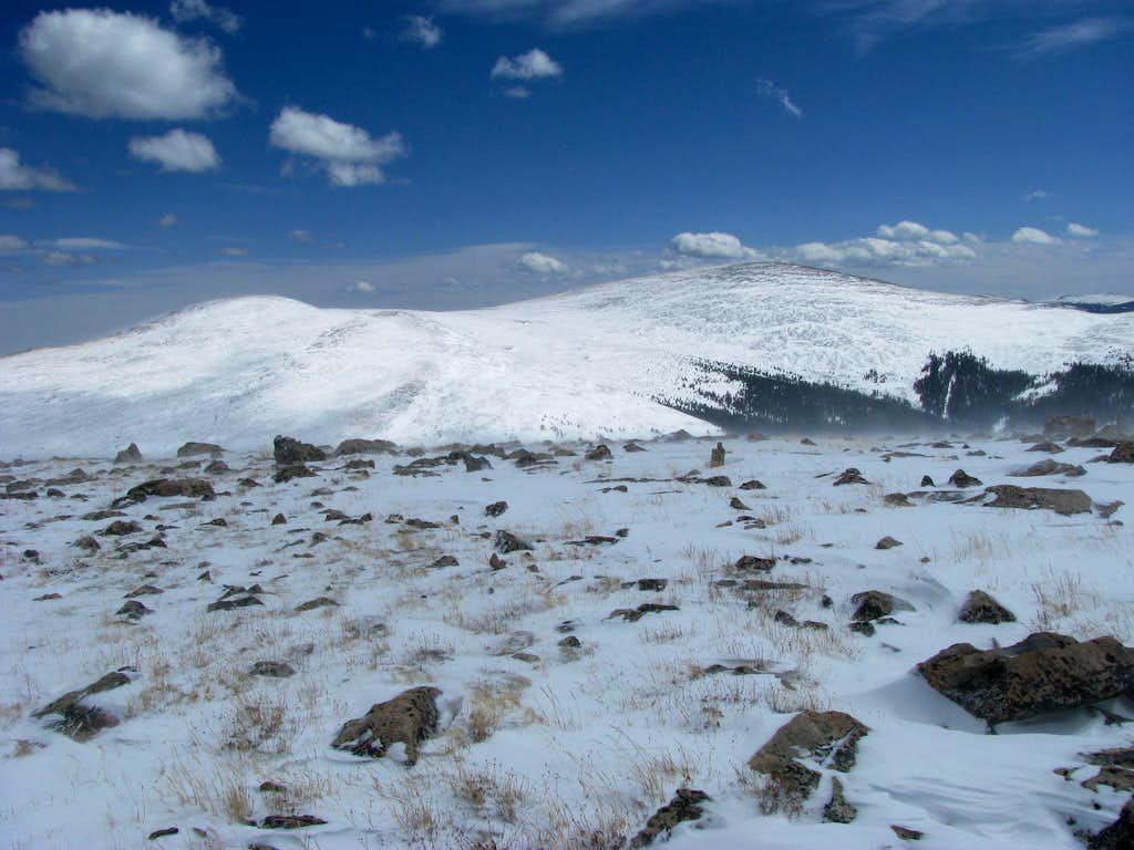 Mount Logan from summit Kataka Mountain