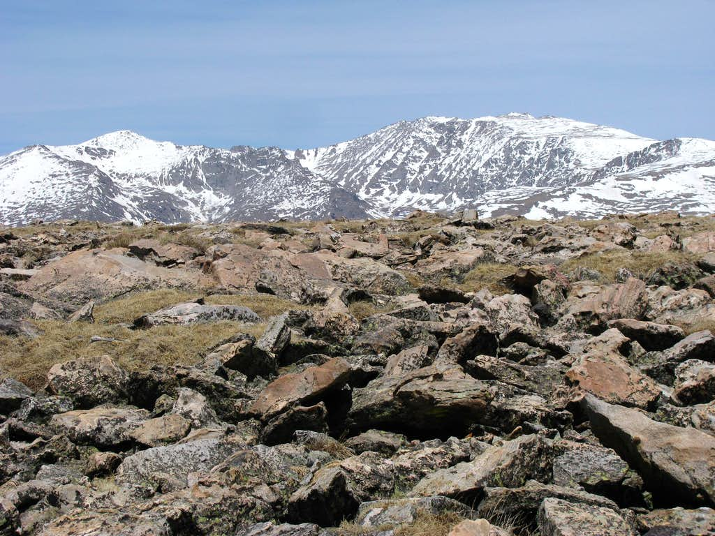 Mount Evans from summit