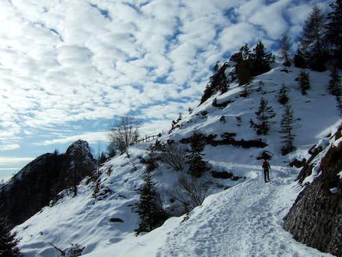 Towards Cornetto hut