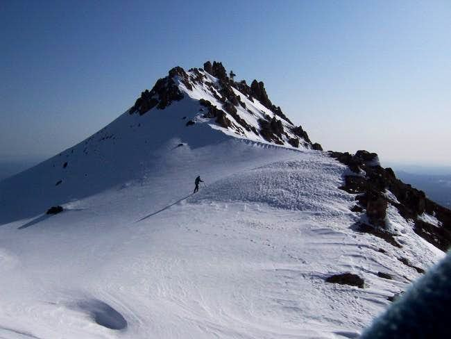 Vendula approaching the summit