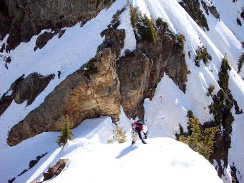 Traveling from Mt. Dromedary en route to Sunrise Peak