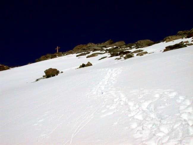 Last steep meters ...