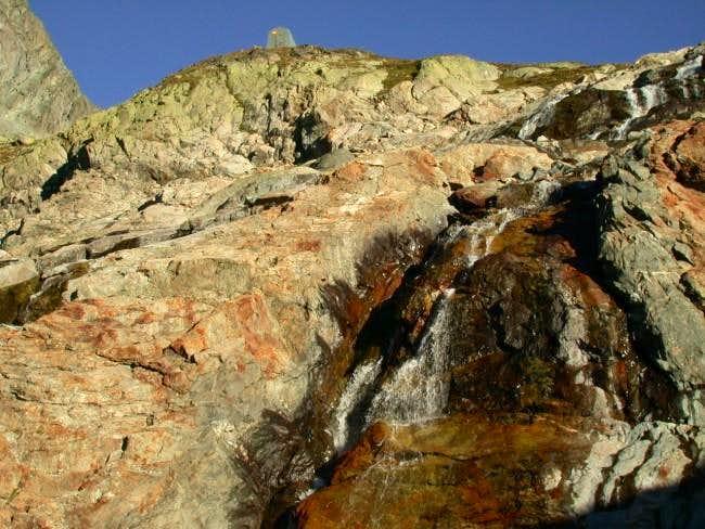 The waterfall between Rifugio...