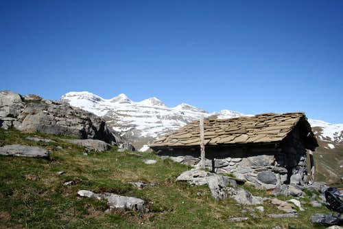 Monte Perdido from the surroundings of Nerin