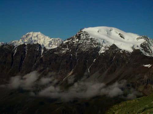 Mont Blanc and Mont Velan,...
