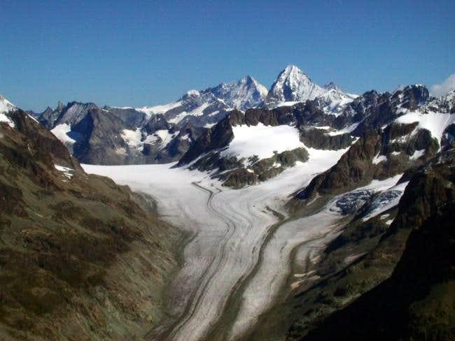 Otemma glacier and Dent...