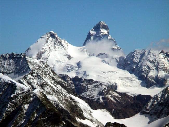 Dent d'Herens and Matterhorn,...
