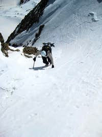 Climbing the last section of Lost Rat