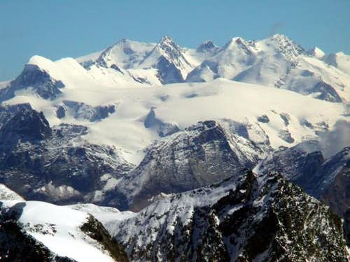 Breithorn chain and Monte...
