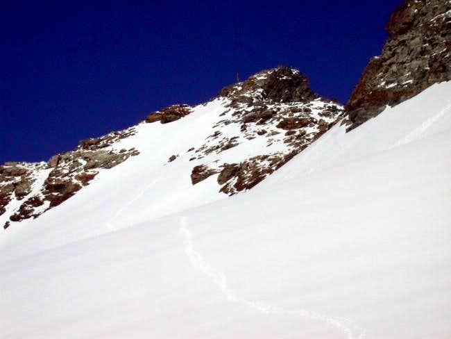 Mont Gelè summit, seen form...