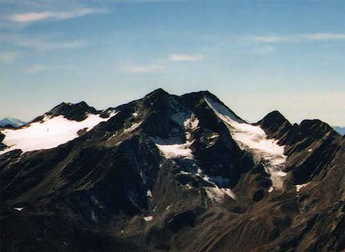 Saldurspitze seen from the...