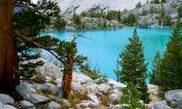 Glacier fed Lake in the Sierras