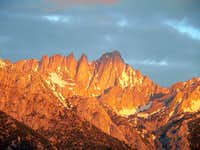 Mt. Whitney at first light