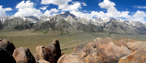 Lone Pine High Sierra from the highest Alabama Hill