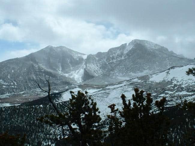 3/27/04-- View of Longs Peak...