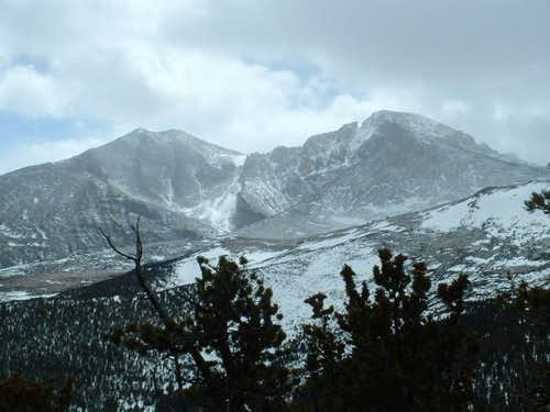 3/27/04-- View of Longs Peak...