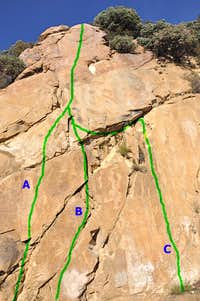 Routes of The Bolt Ladder