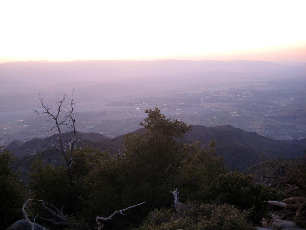 Sunrise above Palm Springs