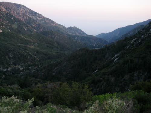 Sunset above Bear Canyon