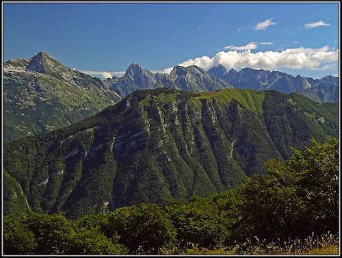 Julian Alps from Kobariski Stol