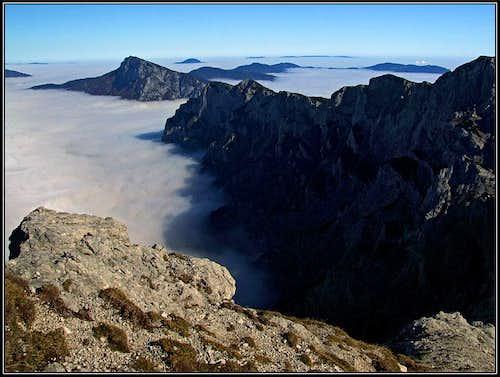 Ojstrica SE ridge ascent