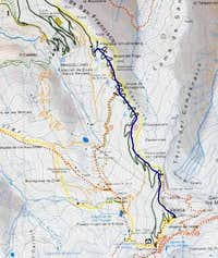 part of the Map of the Sierra...