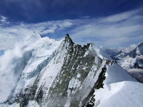 Weisshorn from Bishorn summit